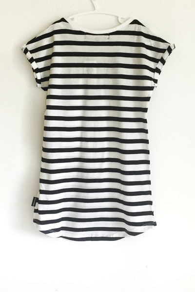 Beau Hudson-Kids Striped Dress-Back