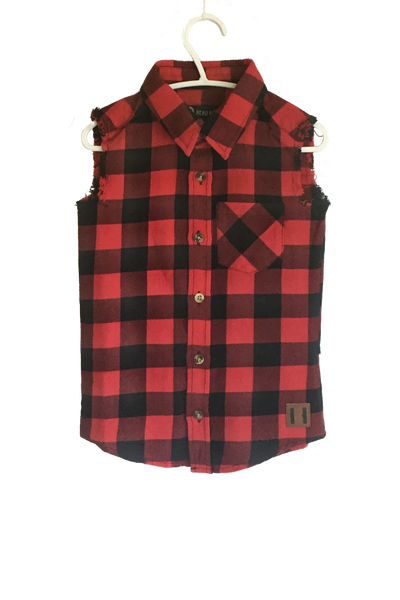 Beau Hudson Kids Plaid Sleeveless Vest