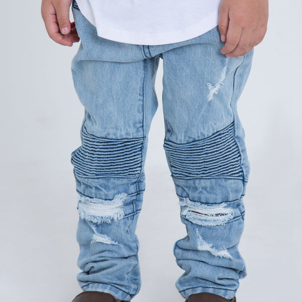 Denim - Clayton Distressed Denim