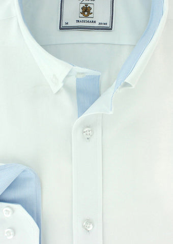 Chemise oxford blanc Cotton Park