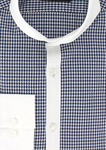 Chemise col Italien Cutaway oppositions blanches | Cotton Park