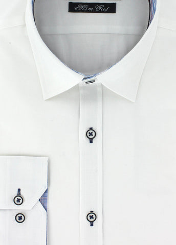 Chemise Oxford blanche pour homme