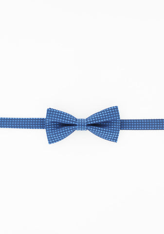 Noeud papillon marine motifs ronds bleu ciel | Cotton Park