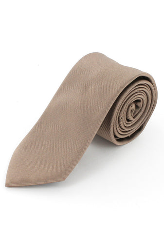 Cravate twill beige en microfibre cotton park