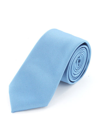 Cravate twill bleu ciel en microfibre cotton park