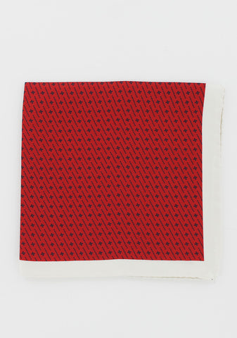Pochette soie motifs points rouge | Cotton Park