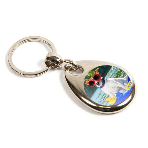 Personalised Metal Keyring 25mm Round