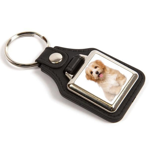 Personalised Medallion Keyring 25mm Square