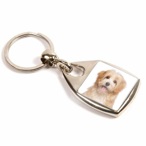 Personalised Metal Keyring 25mm Square