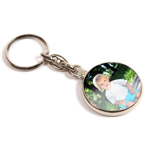 Personalised Metal Keyring 33mm Round