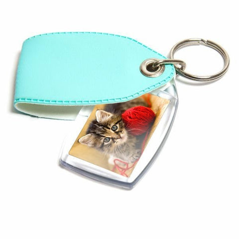 Personalised Keyring 35mm x 24mm Aqua