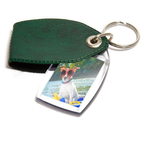 Personalised Keyring 35mm x 24mm Green