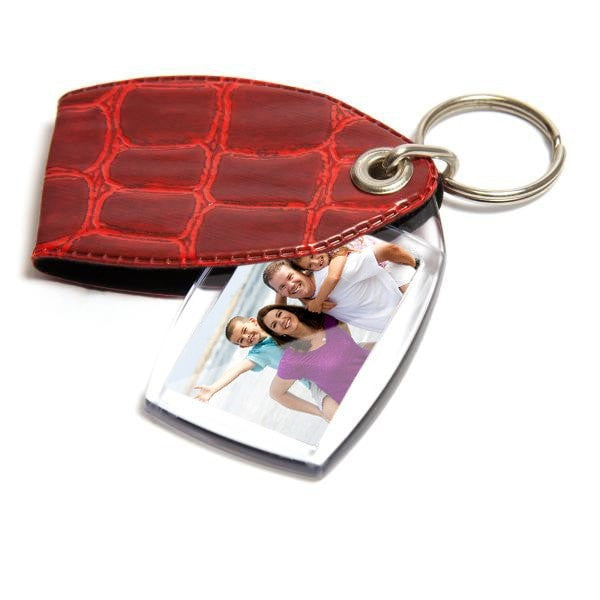 35mm x 24mm Keyring Red