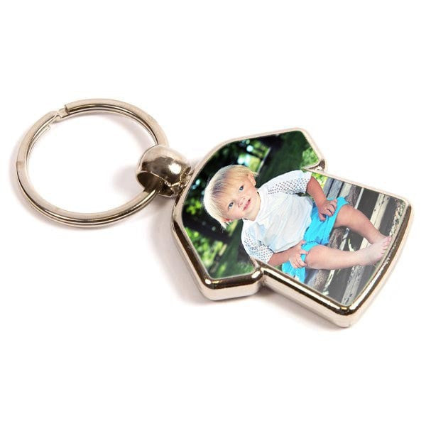 Personalised Metal Keyring 35mm x 24mm