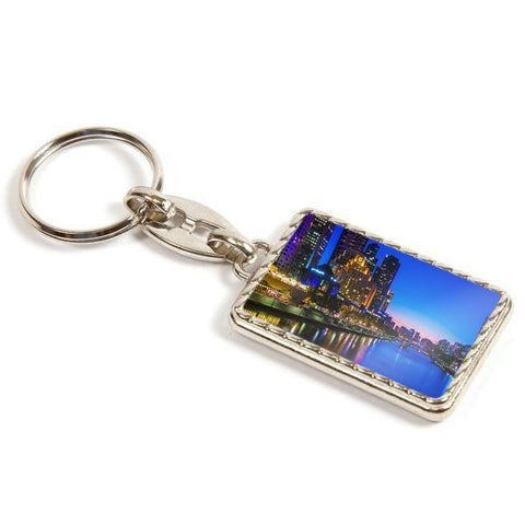 Personalised Metal Keyring 40mm x 25mm