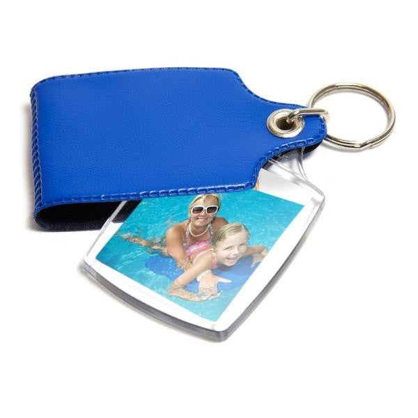 Personalised Keyring 45mm x 35mm Blue