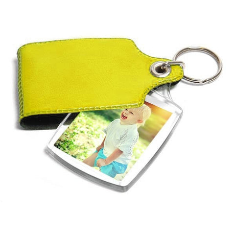 Personalised Keyring 45mm x 35mm Yellow