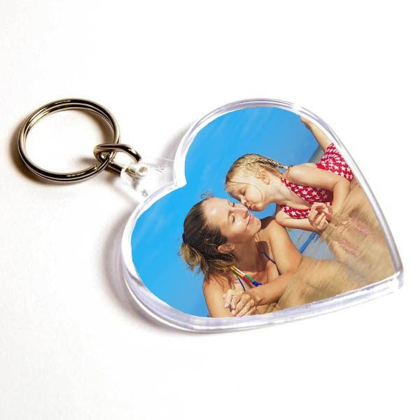 Personalised Keyring 58mm x 50mm Heart Shape