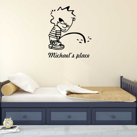 Bad Boy Personalised Wall Sticker Part 46