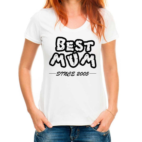 Best Mum Personalised T-shirt Choose Year