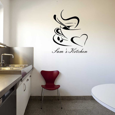 Personalised Coffee Cup Wall Sticker