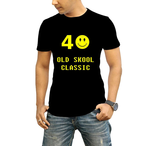 Custom Age T-shirt Old Skool Classic
