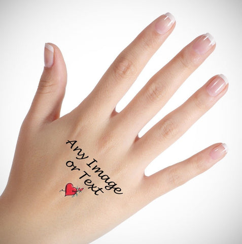 Personalised Temporary Hand Tattoo