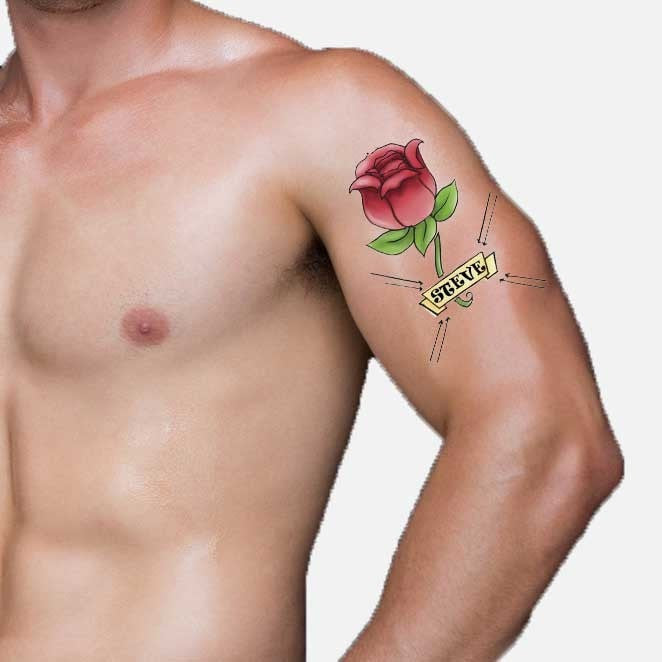 Personalised Rose Tattoo