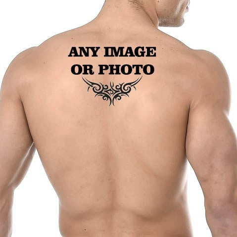 Personalised Temporary Back Tattoo