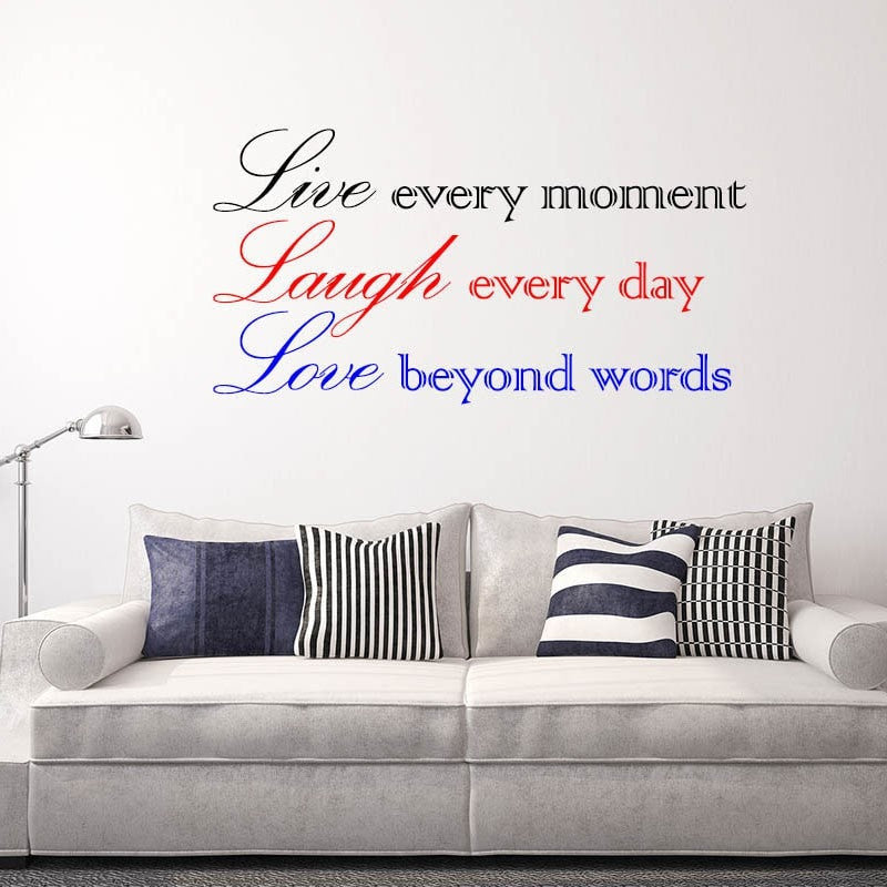 Design Your Own Wall Stickers Multi colour Personalised Wall