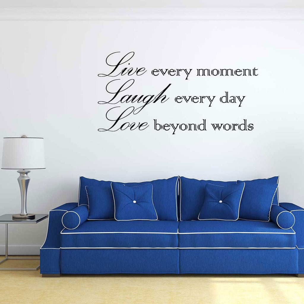 Make your own wall stickers personalised wall art add any text design your own single colour amipublicfo Image collections