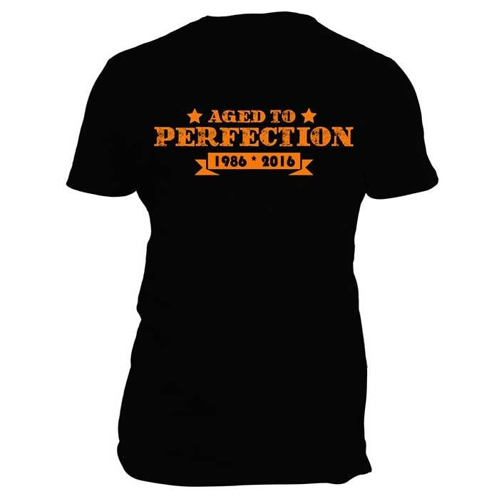 Aged To Perfection Custom T-shirt Add Any Year