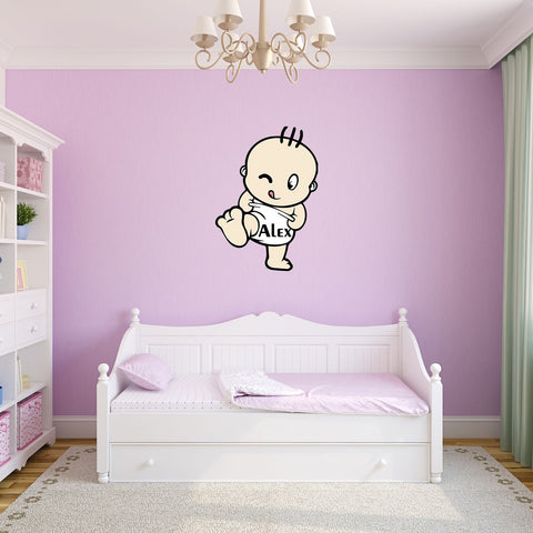 Baby in Nappy Wall Sticker