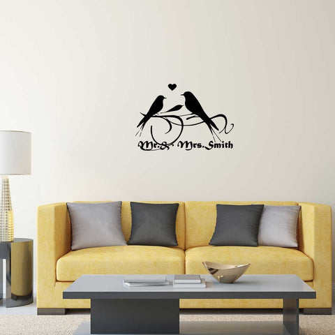 Personalised Birds Wall Sticker