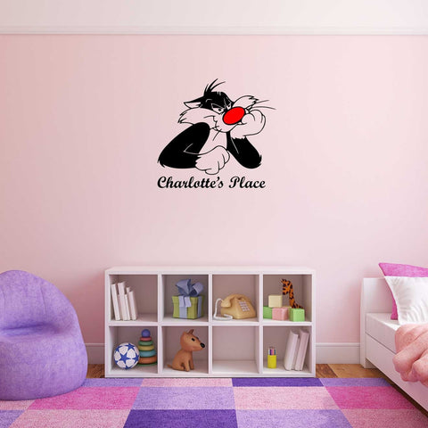 Sylvester Cartoon Personalised Wall Sticker