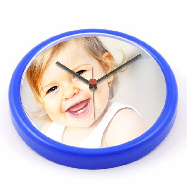 Personalised Wall Clock Blue
