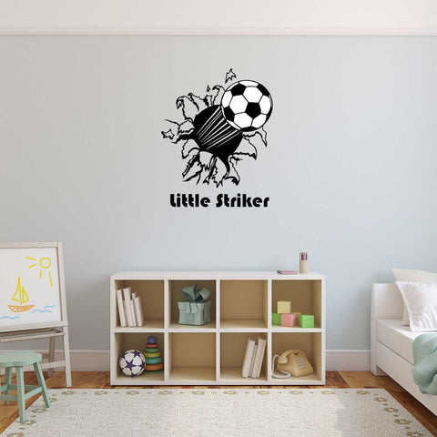 Personalised Flying Football Wall Art