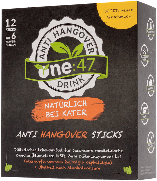 Stick Drink gegen Kater one 47 Anti Hangover