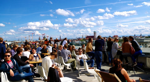 Cafe Vorhölzer TU München Universität Rooftop Bars Sommer 2017 Cocktail Party