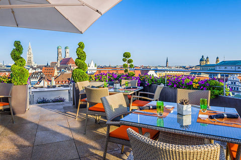 China Moon Terrace Mandarin Oriental Hotel München Rooftop Bars Sommer 2017 Cocktail Party