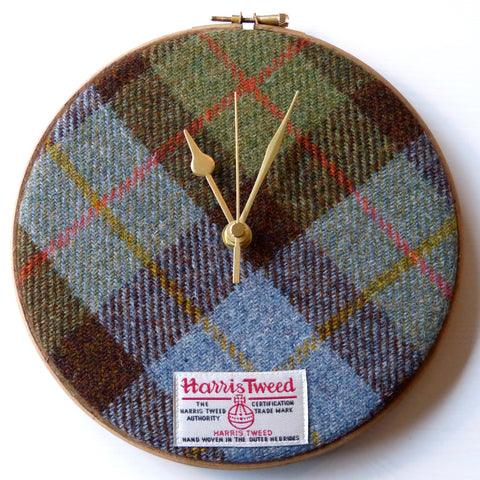 Image of original Harris Tweed Clock Macleod Hunting Tartan