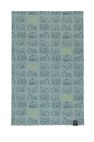 Mountain Bothy Print Tea Towel