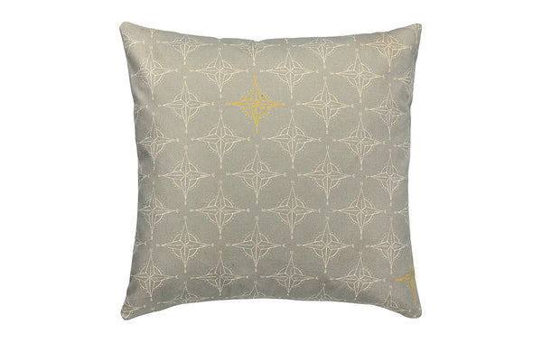 Image of Grey and Yellow Cushion - Nautical Home Decor