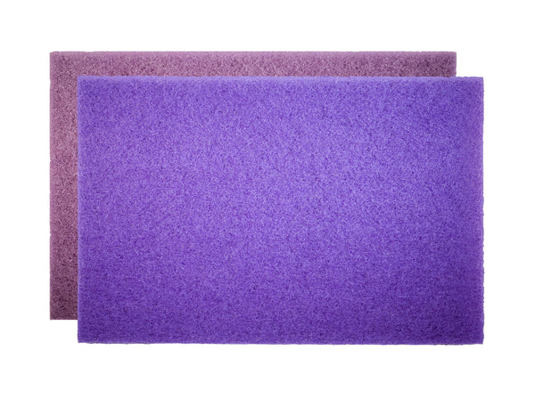 "20"" Purple Diamond Pad - Sold Individually - Square Scrub SS P1420PD"