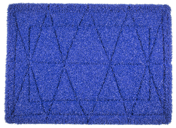 "20"" Blue Tile & Grout Pad - Sold Individually - Square Scrub SS P1420TGB"