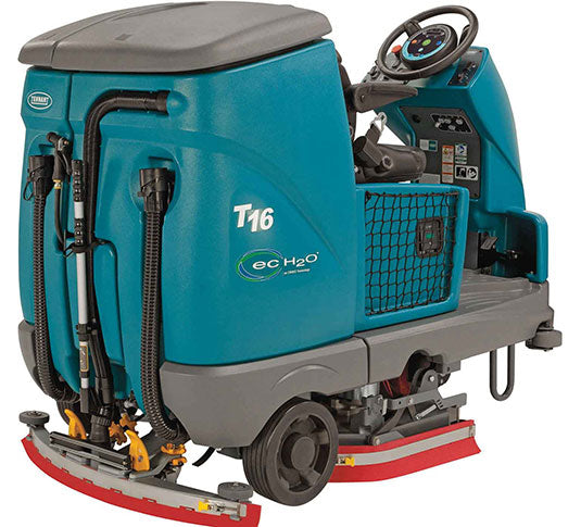 "Refurbished Tennant T16 36"" Cylindrical Battery Powered Rider Floor Scrubber"