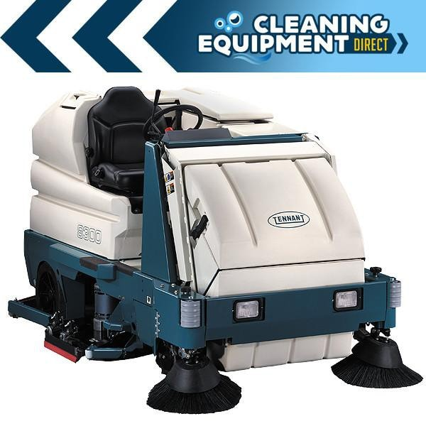 Tennant 8300 Battery Powered Rider Sweeper Scrubber