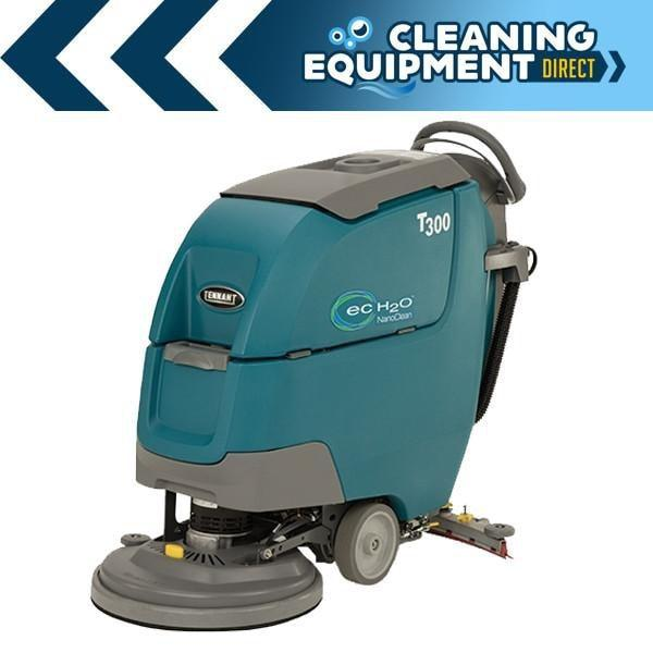 "Tennant T300e 20"" ecH20 NanoClean Disk Battery Powered Walk Behind Floor Scrubber - Demo Unit"
