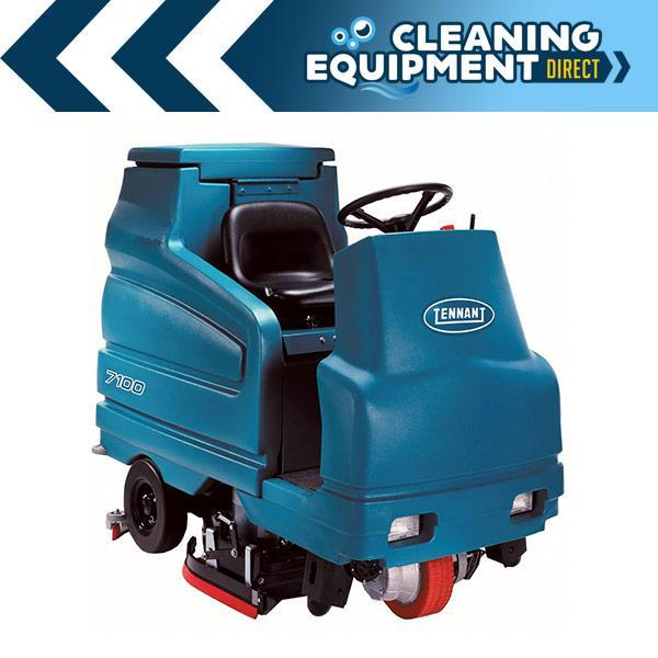 "Tennant 7100 28"" Disc Rider Scrubber - Cleaning Equipment Direct"