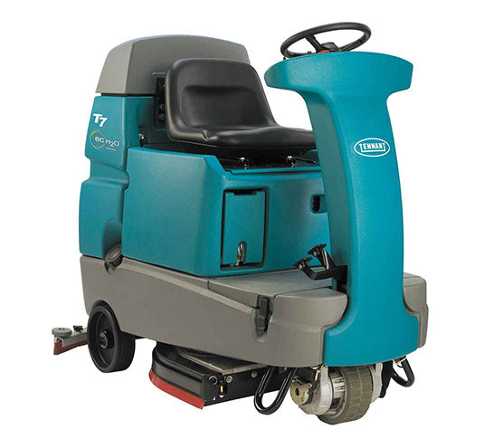 "Refurbished Tennant T7 32"" Disk Battery Powered Rider Floor Scrubber"